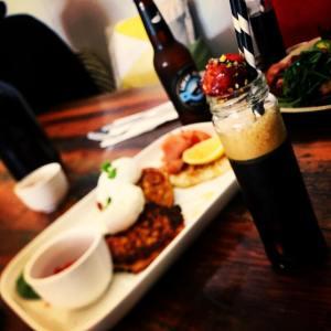 Muharam Cafe, Little Drippa Espresso Martini w/ Pistachio, Goji & Dark Chocolate coated marshmallow.