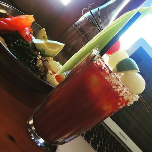The Bloody Mary @ Porch and Parlour, also at Sydney. Bondi in fact, who needs garnishes when you have a view?