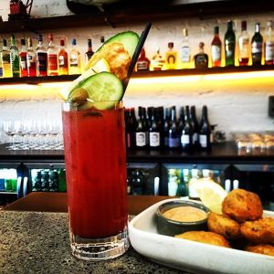 The Secret Bloody Mary @ Stray Neighbour, Preston. Garnished with Fried Pickles & Chipotle aioli - this one was limited edition but I'm sure we can create a petition...