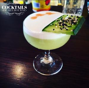 Cucumber & Yuzu Sour - Belvedere Vodka, Elderflower, Yuzu, Cucumber, Honey. All. The. Delicious!