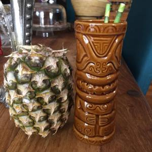 Pia the Piña & Ted the Tiki just chilling.